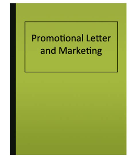 How to write a promotional letter